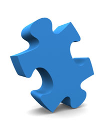 blue jigsaw piece