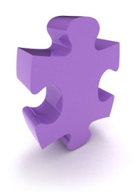 purple jigsaw piece
