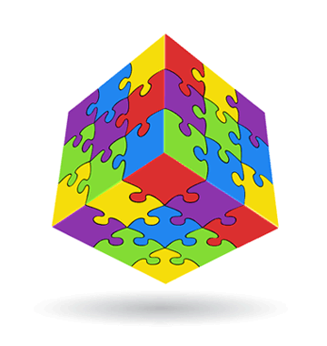 jigsaw puzzle cube
